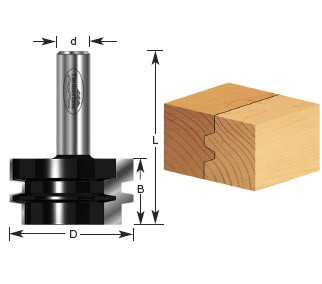 470-10 Carbide Tipped Glue Joint 1-7/8 Dia x 1-3/32 x 1/2 Inch Shank for 3/4 to 1 Inch Material