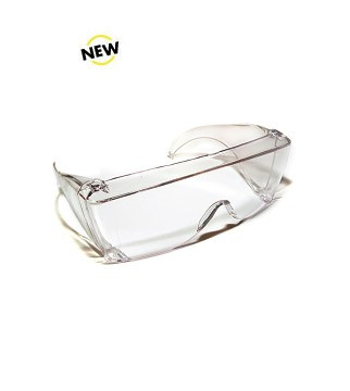 SG-004 Safety Glasses with Clear Frame and Solid Style