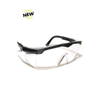 SG-006 Safety Glasses with Black Frame