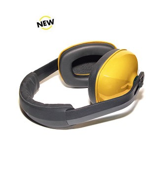SH-002 Hearing Protection Headset with Yellow Hearing Cups