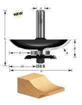 Cove Raised Panel Router Bit w/ Back Cutter