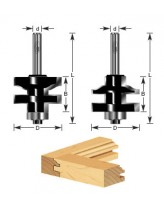 2-Piece Ogee Stile & Rail Router Bit Set