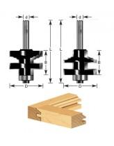 2-Piece Classical Stile & Rail Router Bit Set