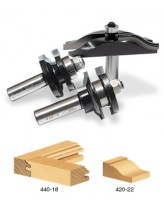 TRS-250 3-Piece Ogee Raised Panel Door Making Set  with Back Cutter