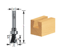 Dovetail Template Router Bit