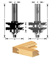 1-pc Ogee Stile & Rail Assembly