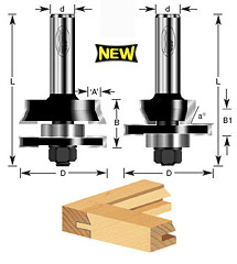 2-pc Shaker Stile & Rail Set