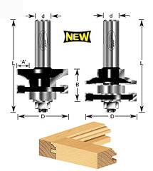 "2-pc Ogee Stile & Rail 1/2"" Shank"
