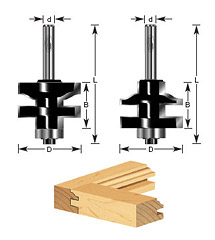 "2-pc Ogee Stile & Rail Set 1/4"" Shank"