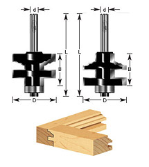 2-pc Classical Stile & Rail Set