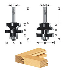 2-pc Concave Stile & Rail Set