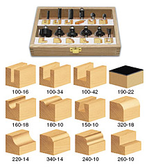 12-Piece All Purpose Router Bit Set