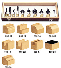 11-Piece Starter Router Bit Set