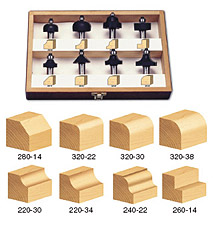 8-Piece Profile Router Bit Set