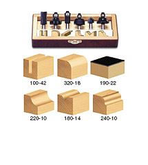 6-Piece All Purpose Router Bit Set